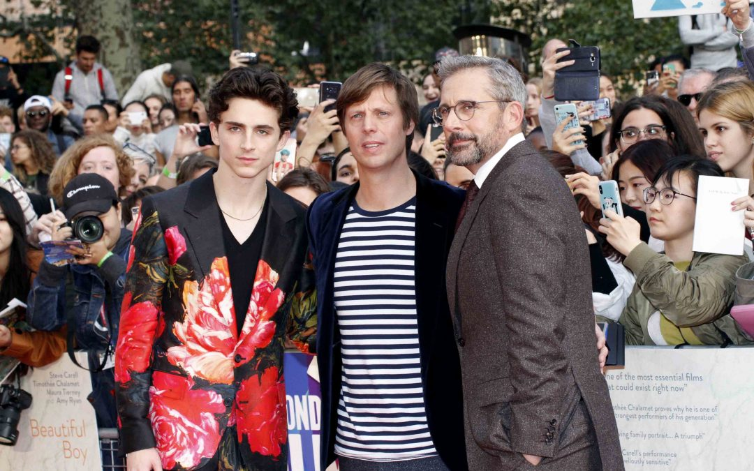 Timothee Chalamet, director Felix van Groeningen and Steve Carell